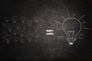 Big Idea Equal Small Ideas On Chalkboard