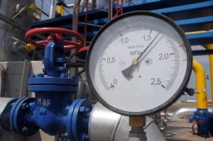 Pressure Gauge At The Gas Compressor Station