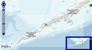 Shishaldin Volcano Alaska Location Map