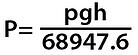Pressure formula, for liquids with densities different than water