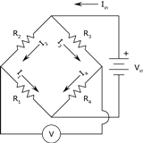 Wheatstone bridge diagram
