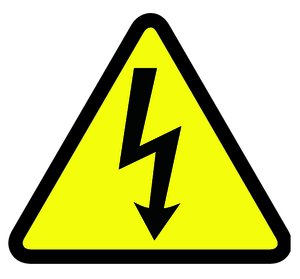 Shock Symbol - Yellow Triangle Sign