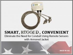 Differential Pressure Sensor w/ Armored Jacket: Model 231RS - Setra™
