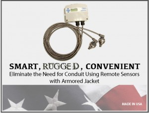 Differential Pressure Sensor w/ Armored Jacket: Model 231RS - Setra™