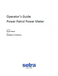 Power Meter - PPM Operator's Guide