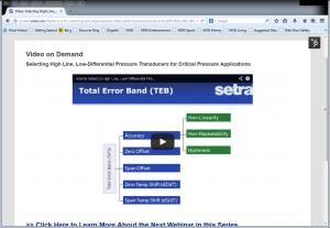 Setra's Industrial Webinars and Industrial/HVAC Videos on Demand