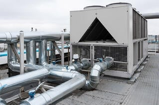 A typical rooftop air handling unit