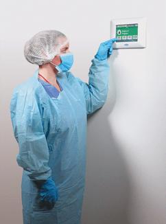 Setra FLEX on Wall with Nurse in Surgury Gown RBG Sqaure