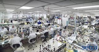 View of a manufacturing cleanroom facility