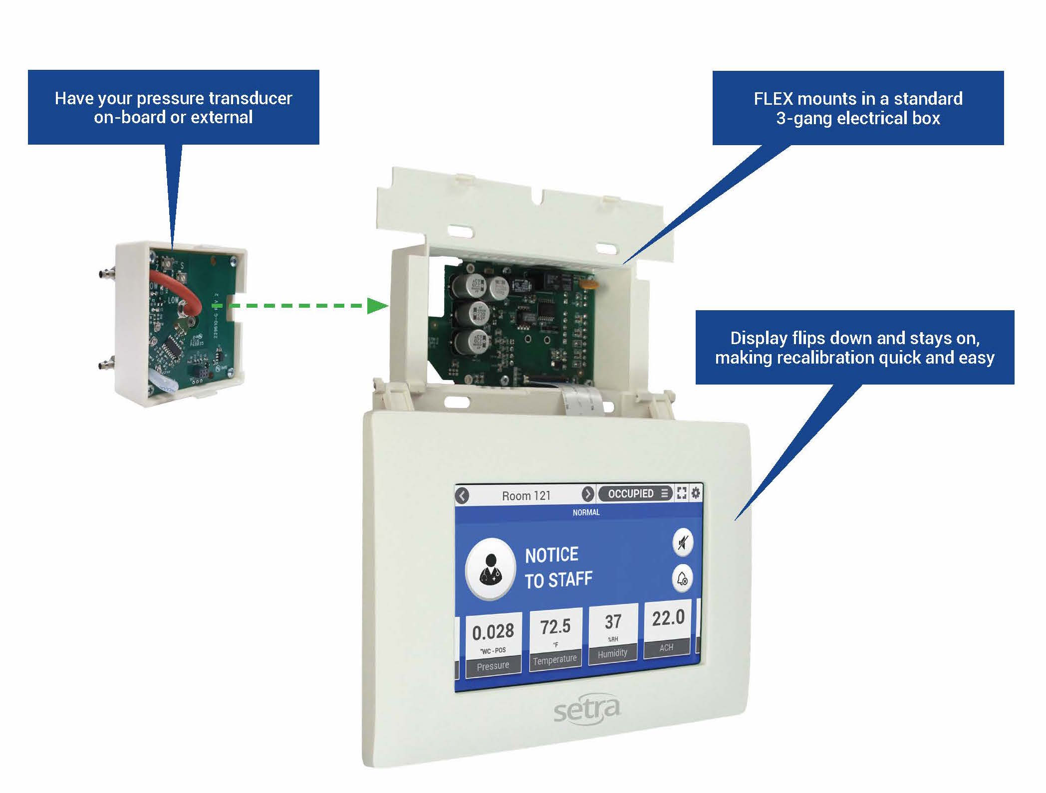 FLEX Environmental Monitor Breakout Showing Features and Benefits