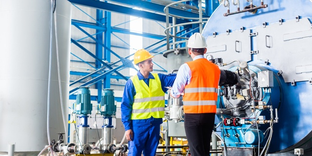 General Industrial - Two engineers in clean bright furnace area - 640x320