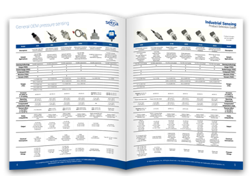 Thumbnail of Setra's industrial pressure product selection guide.
