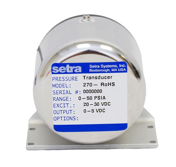 SETRACERAM™ for Barometric, Gauge or Absolute Pressure: Model 270