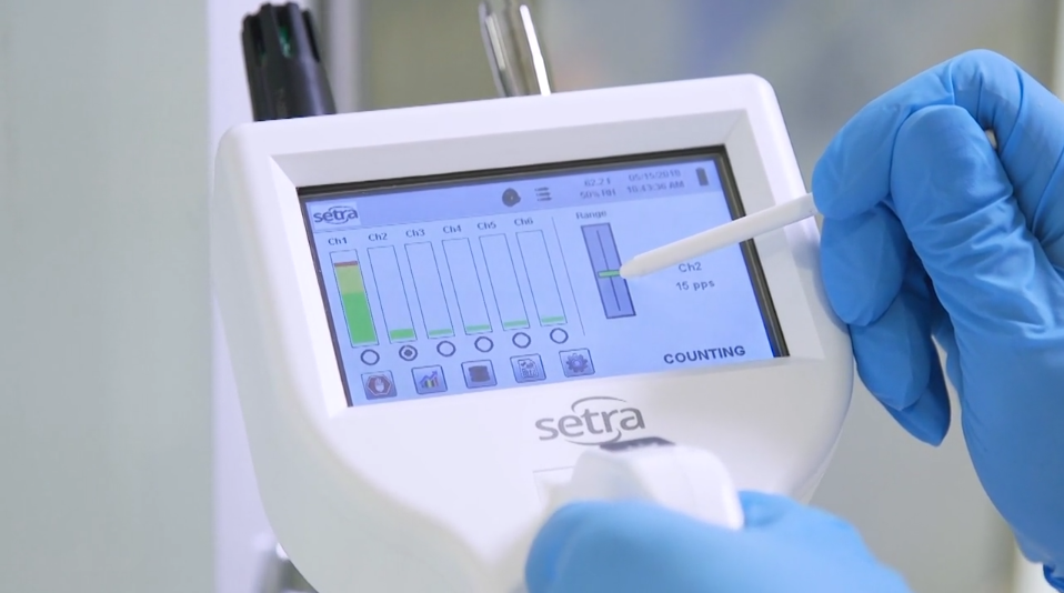 Setra Particle Counter 8000 Series - In use
