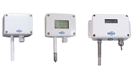 Setra's line of humidity sensors