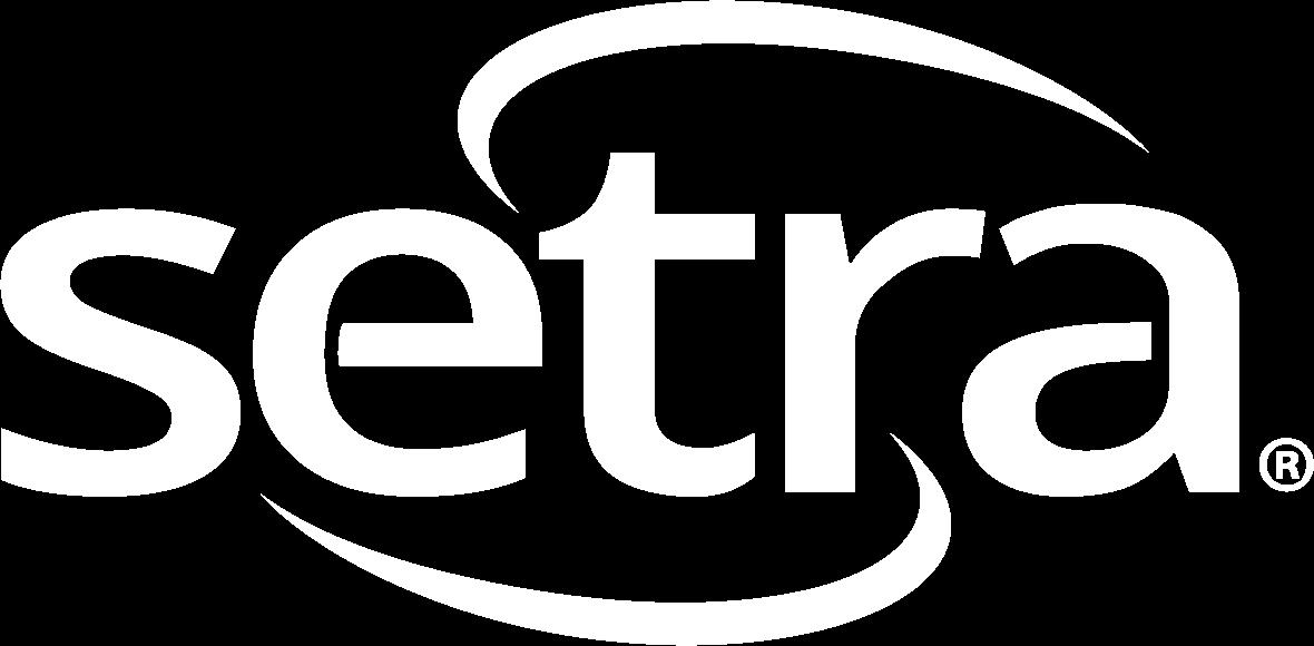 Transparent Setra Logo in White