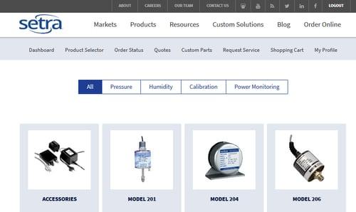 Setra's Online Order Management System