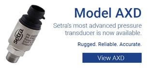 Setra Model AXD Industrial Pressure Sensor