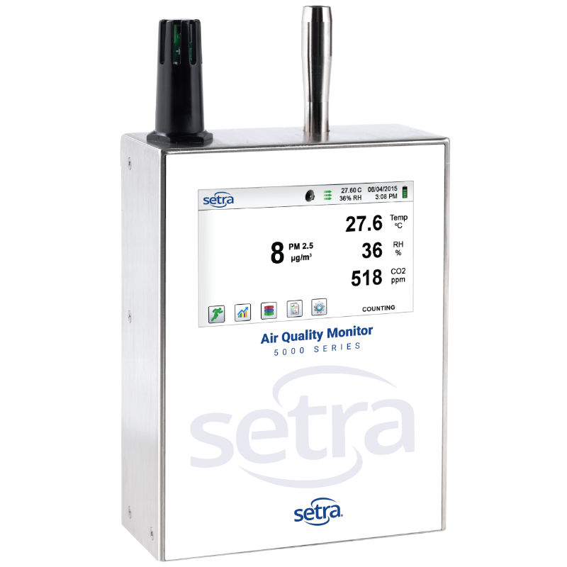 Setra 5301-5302 AQM Remote Airborne Particle Counter and Environmental Monitor
