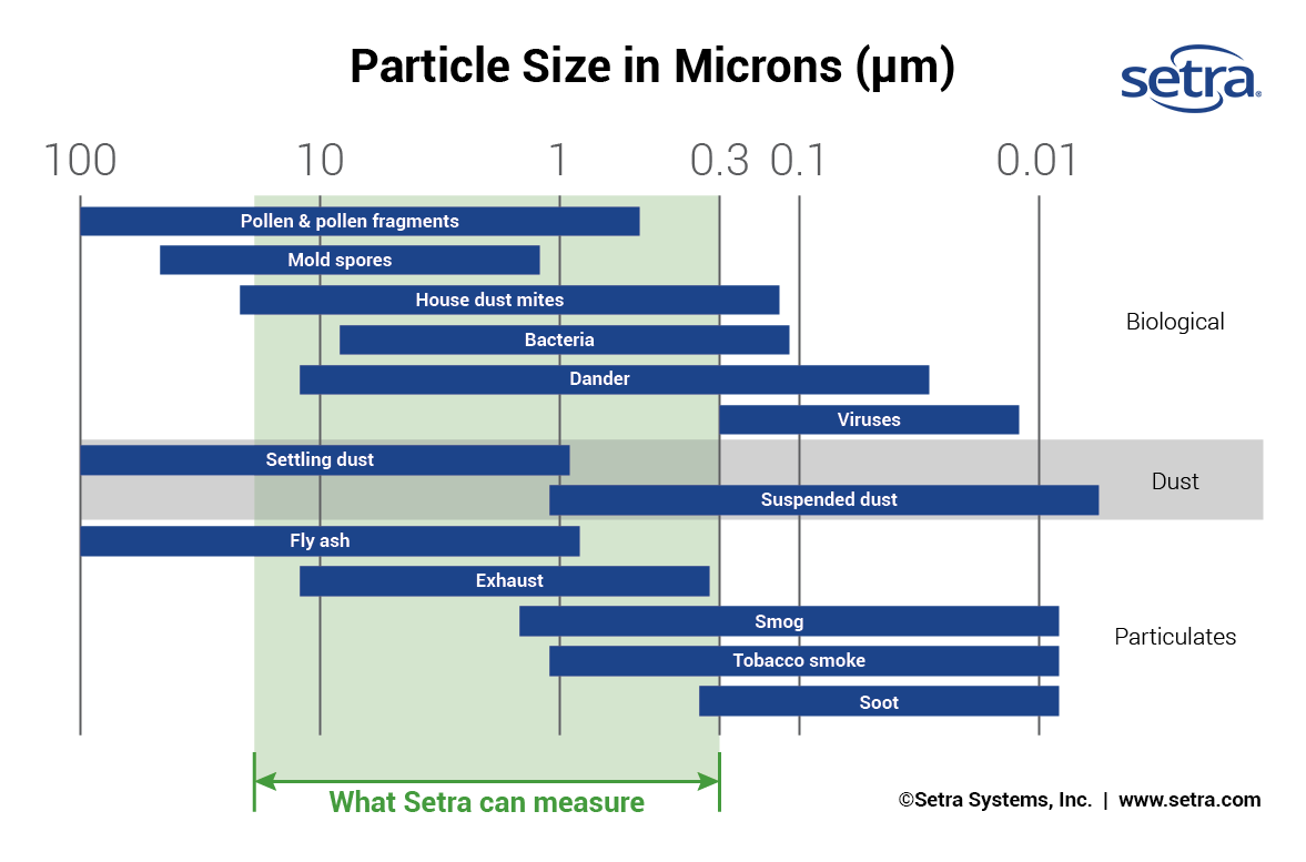 Comparison of Particle Sizes