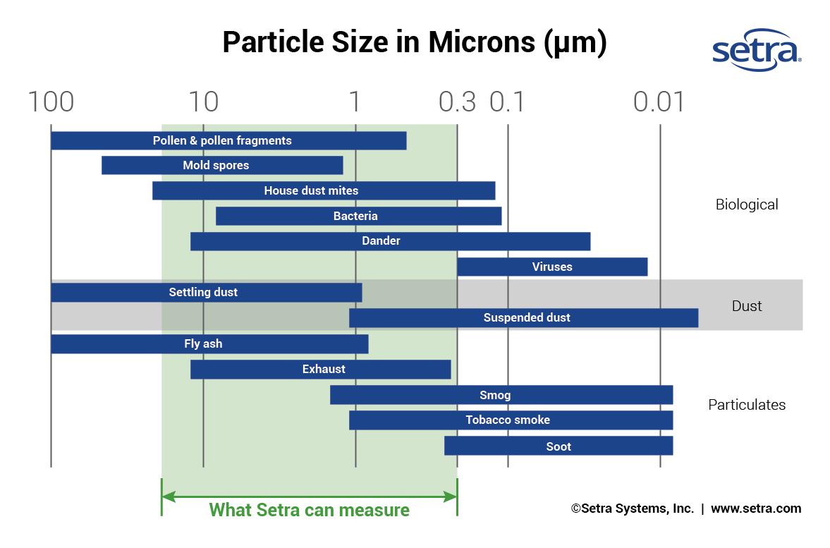 Comparison of Particle Sizes