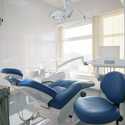 Dental office that is being negatively pressurized