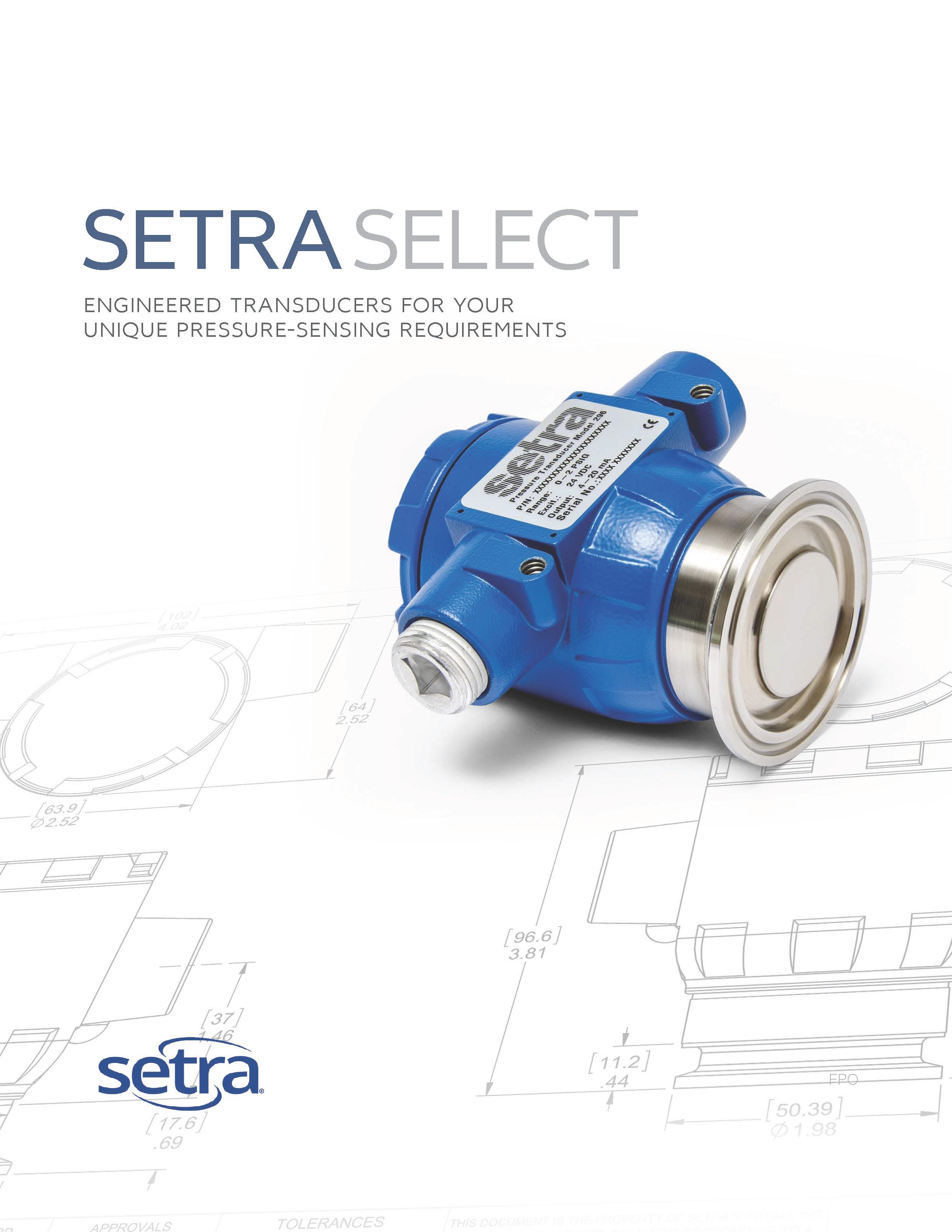 Customized Pressure Transducers- Setra Select